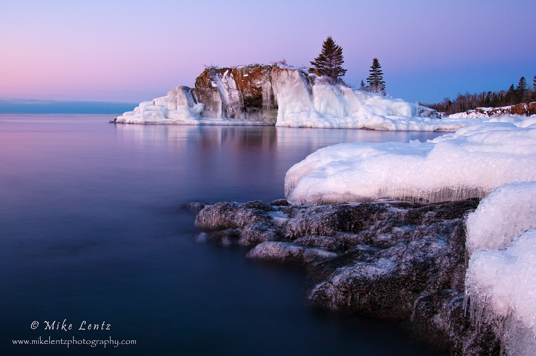 Hollow rock icy