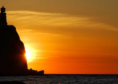 Split rock lighthouse sunrise pano